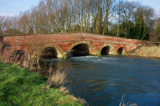 Five arched bridge over West Beck at Wansford